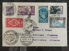1935 Brazil Graf Zeppelin postcard cover to Hermann Sieger Boblingen Germany