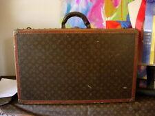 c06468e6a3b9 RARE Vintage LOUIS VUITTON Alzer Hardside STENCILED Suitcase Trunk Case LV