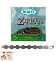 "KMC Z410 1/2"" X 1/8"" 112L BMX FIXED CRUISER SINGLE SPEED NICKEL BIKE CHAIN"