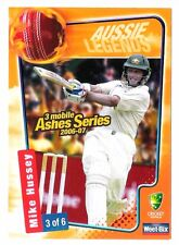 Mike Hussey Sport Australia Batsman Cricket Trading Card Weet Bix