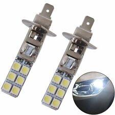 2Pcs H1 12-LED Replacement Headlight/Fog Light Bulbs Bright White 5050 6000k 12V