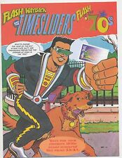 US POST OFFICE 1998 issued Flash Wayback comic Flash to 70's