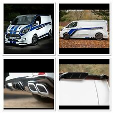 FORD TRANSIT CUSTOM FRONT WING BODY STYLE KIT Bumper,spoiler upgrade conversion