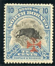 North Borneo 1916 KGV Red Cross 10c blue MLH. SG 208.