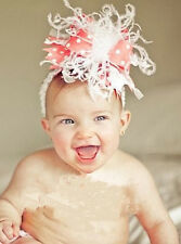 HOT Baby Feather Pad headband Bow flower hair band FASCINATOR Accessorie KL44