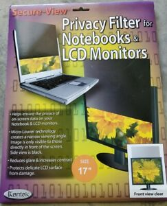 """Kantek Secure View Notebook LCD Privacy Filter Fits 17"""" LCD Monitors SVL170"""