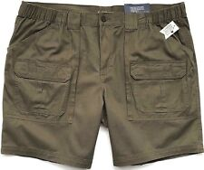 09efa293 NEW Men's Relaxed Fit CROFT & BARROW Big & Tall Side-Elastic Cargo Shorts  Sizes