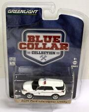 Greenlight 1/64 Scale Blue Collar '14 Ford Interceptor Utility Diecast model car