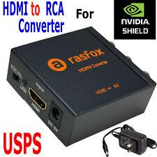 HDMI to 3RCA Composite AV Converter for NVIDIA SHIELD TV Streaming Media Player