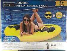 JUMBO INFLATABLE FACE Smiley Sunglasses 155x137cm - Giant Pool Toy Float Ride On