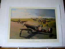 Hornchurch Scramble Spitfire Robert Taylor 9 Pilot Signed Aviation Art