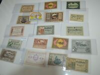 Lot of AUSTRIA WALDING  20 25 50 60 HELLER NOTGELD BANKNOTE 1920 WWI