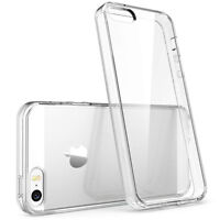 For Apple iPhone SE/5/5S Crystal Ultra Thin Skin Back Clear TPU Soft Case Cover