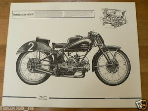 HELMUT KRACKOWIZER RENNMOTORRAD POSTER MOTO GUZZI 250 1935/37 MOTORCYCLE