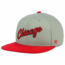 ea5165631c9 Chicago Bulls NBA HWC  47 BRAND Sure Shot Script Snapback Flat Bill Brim  Cap Hat