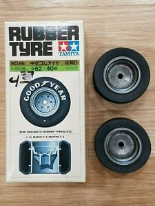Vintage Tamiya 1/10 55 x 36 Rear Sponge Tyre Tires No 56 with a different box