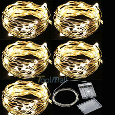 5 x Warm White 3M 30 LED Copper Wire LED String Fairy Lights Lamp For Decoration