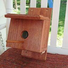 Beautiful Red Cedar Blue Bird Style Bird House