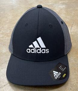 Adidas Golf A-Stretch Badge of Sport Tour Black/Gray Adjustable Snapback Hat NWT