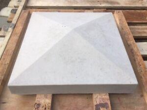 Pier Caps x4 concrete 375 x 375 Light Grey colour Del included (some exceptions)