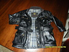 BELSTAFF PELLE LEATHER JACKET -  4  5  ANNI - 4 T -  BAMBINO GIACCA