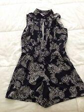 Brand New Ann Taylor romper paisley short sleeve size 4