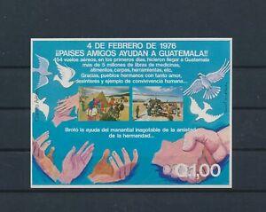 LO43045 Guatemala refugee aid imperf sheet MNH