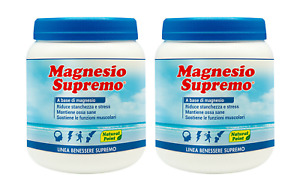 MAGNESIO SUPREMO NATURAL POINT 2 x 300 Gr - RECUPERO STANCHEZZA MENTALE