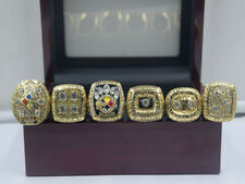 6pcs 1974 1975 1978 1979 2005 2008 Pittsburgh Steelers World Championship Ring -