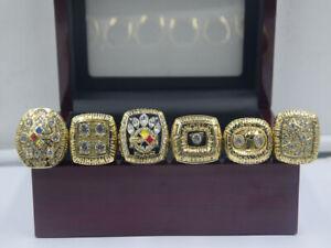 6pcs 1974 1975 1978 1979 2005 2008 Pittsburgh Steelers World Championship Ring *