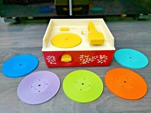 Vintage Fisher Price Music Box Record Player Working
