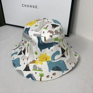 Dinosaur Baby Cartoon Cotton Bucket Hat Kids Summer Sun Cap Beach Girl Boy kids