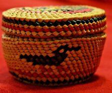 Mid 20th Century Makah Nootka Finely Woven Lidded Mini Basket