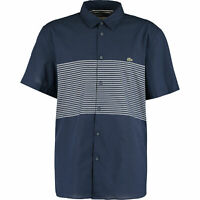 New Lacoste Mens Slim Fit Navy Striped Shirt Size Extra Large EU44 RRP £100