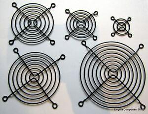 BLACK POWDER COATED Steel Fan Guards 40/50/60/80/92/120mm. Fast Dispatch.