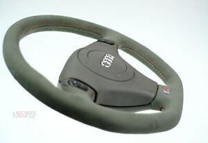 STEERING WHEEL AUDI S4 B5 A4 A8 S8 S-Line Tiptronic TOP Quality Alcantara FLAT