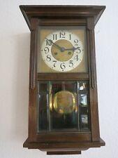 Alte Wanduhr Pendeluhr Regulator mit Schlagwerk Holz Glas  Antik Jugendstil