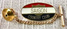 Saigon Country Club Tie Tack Pin and Chain Clasp