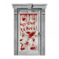 👻BLOODY DOOR POSTER HALLOWEEN Large Decoration Party Prop Blood Horror Scary👻