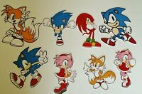 Sonic The Hedgehog & Friends Card Making Toppers -  Die Cut - 8 Pieces  - Crafts