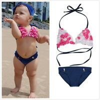 Toddler Kids Girls Tankini Bikini Set Swimwear Swimsuit Bathing Suit Beachwear