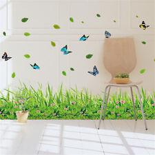 Green Grass Line B Room Decor Removable Wall Sticker Decal Decoration Wandtattoo
