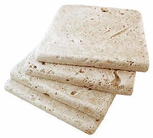 Walnut 4x4 Tumbled Aged Travertine Tile Backsplash Floor Wall (Sold per SF) Bath