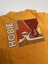 New listing vintage 80s hobie surf t shirt med/large yellow pocket