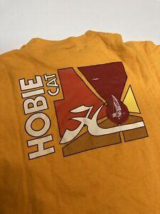 vintage 80s hobie surf t shirt med/large yellow pocket