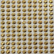 748 x 4mm GOLD Rhinestone Diamante Stick On Self Adhesive STRIP GEMS Diamonte