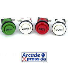 Boton Arcade Americano Credito Exit Coin Power Pushbutton Pulsador Italian Color