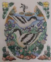 Avocets by Sharon Jervis - Cross Stitch Kit - DMC - birds, flowers
