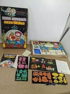 Vintage 1969 Colorforms Miss Cookies Moon Kitchen Playset Hard To Find as is
