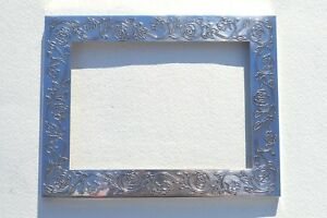 """BEAUTIFUL TIFFANY & CO STERLING SILVER PICTURE FRAME EMBOSSED ROSES PATTERN 9X7"""""""